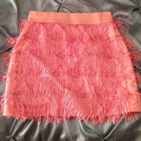 34423c652 Charlotte Russe Skirts | Pink Fringe Mini Skirt | Poshmark