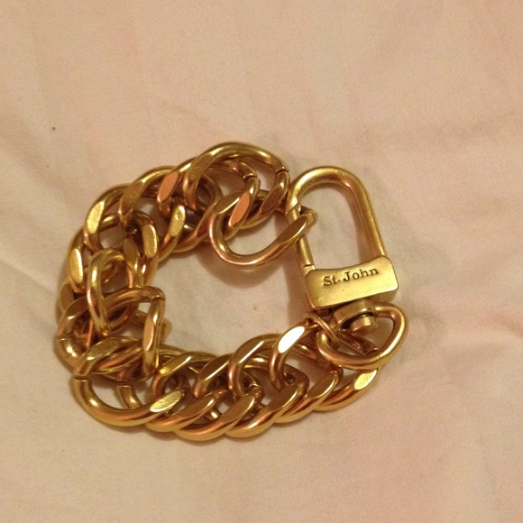 st i bracelet bangle gp signed john tradesy knits snake python gold