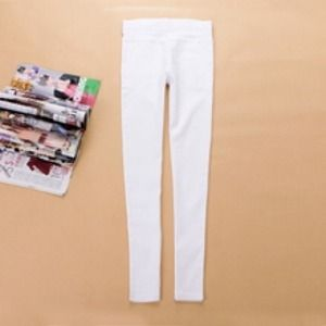 Pants - white jegging