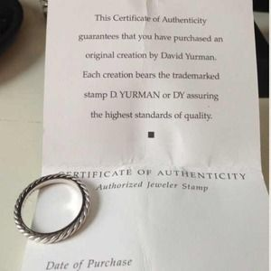 David Yurman Jewelry - Authentic David Yurman Ring