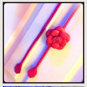 Accessories - Hot Pink Flower Belt