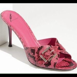 B Brian Atwood Shoes - B Brian Atwood Maritima Slide Pink Snake Pump 9.5