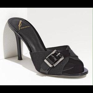 B Brian Atwood Shoes - B Brian Atwood Maritima Slide Black Sandal 10 NWT
