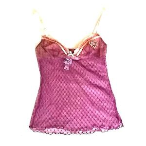 D&G Plum & Peach Lace Cami