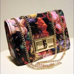 Handbags - Floral Crossbody Purse and Handbag.