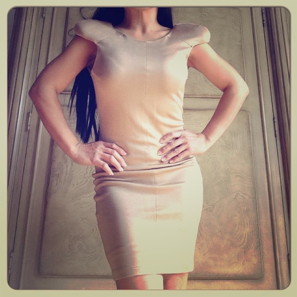 Gripp Dresses & Skirts - NWT Gripp Cream Nude Bodycon XS Small