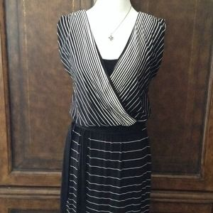 WHBM Striped Maxi Dress