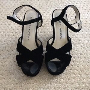 *REDUCED PRICE* Chinese Laundry Black Velvet Heels