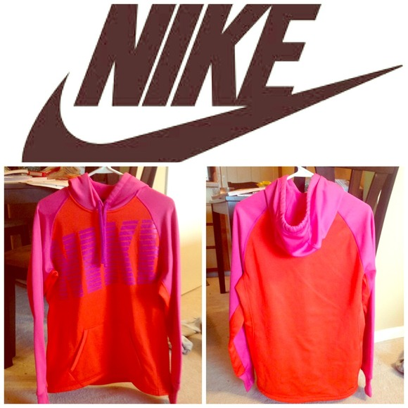 55% off Nike Sweaters - NWOT pink and orange Nike hoodie from ...