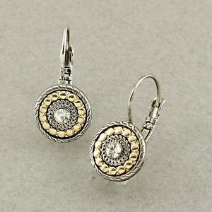 Jewelry - Rhodium gold tone Swarovski crystal earrings