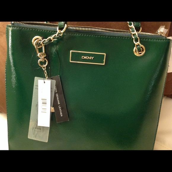 51% off DKNY Handbags - 👍✅ 4X 🎉HOST PICK🎉AUTHENTIC DKNY green ...