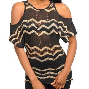 Tops - Chevron Front Knit Shirt