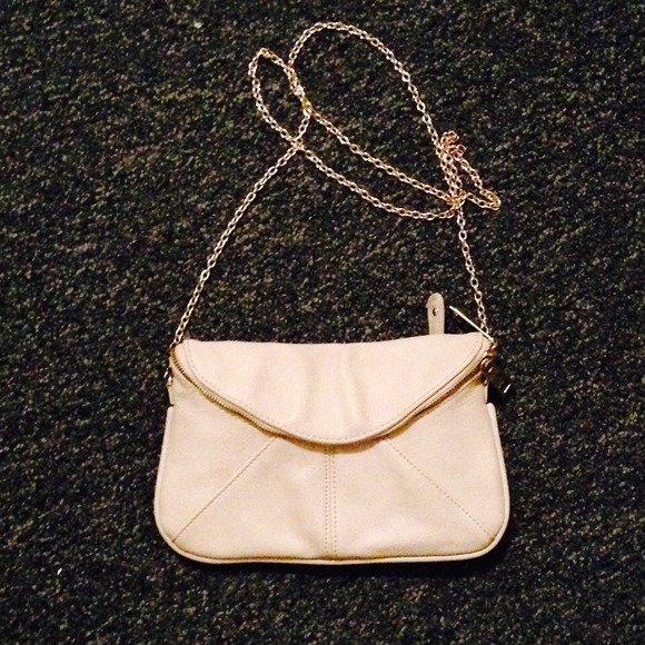 d278226ac994 Francesca s collections Handbags - Cream mini crossbody bag with gold chain