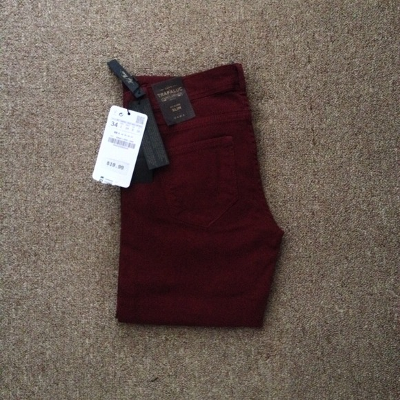 Zara Denim - Zara burgundy jeans 2