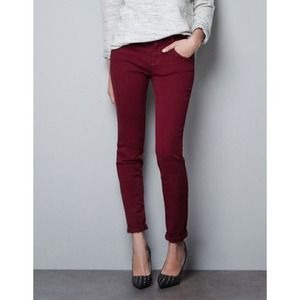 Zara Jeans - Zara burgundy jeans 1