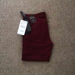Zara Jeans - Zara burgundy jeans 2
