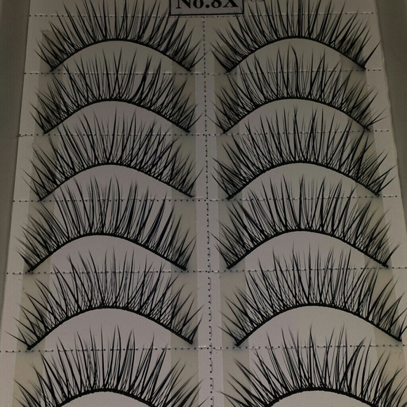 10 pairs false fake eyelashes box lot 4 box mix ma