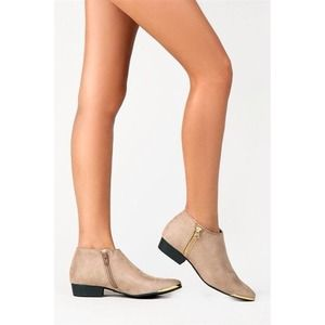NEW Metal Tip Toe Ankle Booties