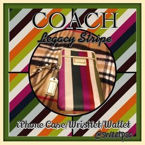 ⚡️$30⚡️COACH Legacy Stripe Case/Wallet/Wristlet