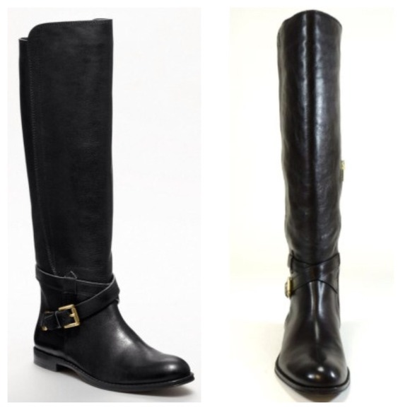 37% off Coach Boots - NWT! Coach Monique black leather riding boot ...