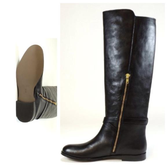 37 coach boots nwt coach black leather