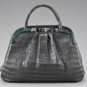 Nancy Gonzalez Colorblock Crocodile Handbag NWT