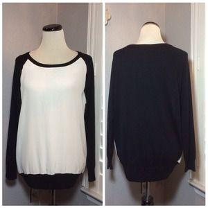 Joie Silk Mixed Media Sweater