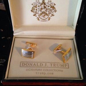 Nicole Miller Jewelry Box >> Donald Trump 2 Toned Cufflinks | Poshmark