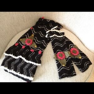 REDUCED- Betsey Johnson Scarf and Wrist Warmers