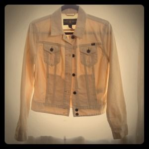 Lucky brand ivory jean jacket