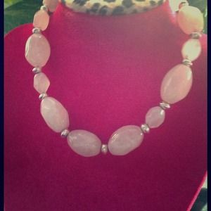 Jewelry - Genuine pink quartz and STERLING  SALE $ 45