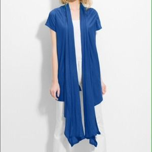ALICE+OLIVIA Blue Draped Lightwt.  Cardigan M NWT