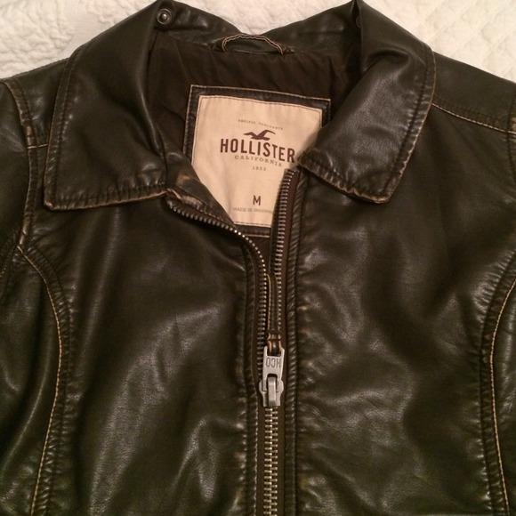 Hollister leather jacket