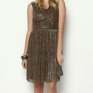 J J Metallic Draped Dress