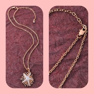 influence Jewelry - Adorable silver colored Starfish on gold Coral