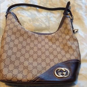  authentic Gucci medium hobo bag