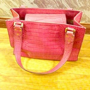 Pink crocodile Kate Spade handbag