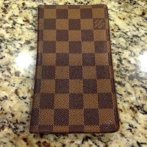 Louis Vuitton check book wallet