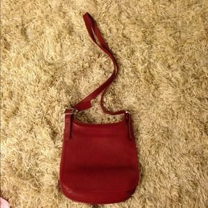 Red coach cross body bag