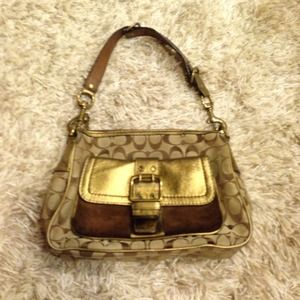 Beautiful bronze shoulder bag