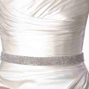 Bridal sash wedding sash belt rhinestone crystal