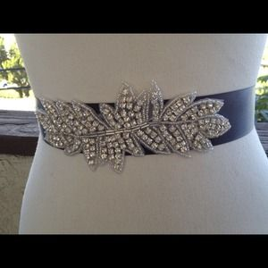 Bridal sash wedding bridal beaded sash belt