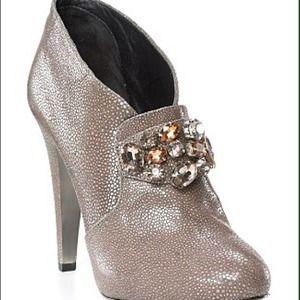 "Rebecca Taylor ""Regal"" Jeweled Stingray Booties"