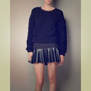 Zara Mini Skirt with Leather Frill
