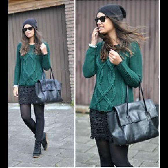 f5eacdbe Zara Sweaters | Sold Green Sweater And Mia Shoes | Poshmark