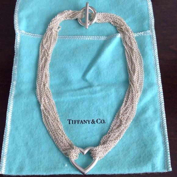 4446b21a6 Retired Tiffany Co Elsa Peretti Mesh Bib Necklace Sterling Silver 925  Tiffanyco. Tiffany Necklace Peretti Mesh Vine Silver Ref A88423