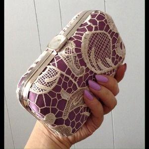 Shoedazzle Handbags - Lavender Lace Box Clutch