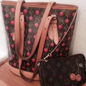 LV limited edition cherry bucket; lowered. $670 pp