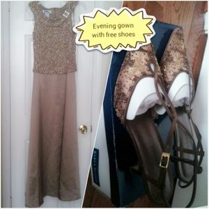 Patra Dresses & Skirts - NWTFormal/evening gown with free Karen Scott shoes