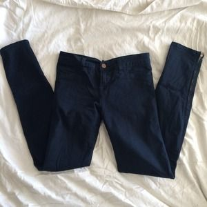 "Jbrand ""the deal"" skinny jeans with zippers"